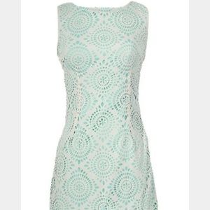 TCEC Mint and Off White Dress